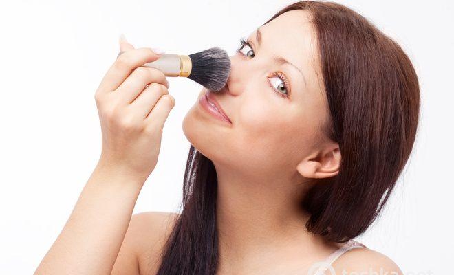 Визуальное изменение формы носа при помощи макияжа